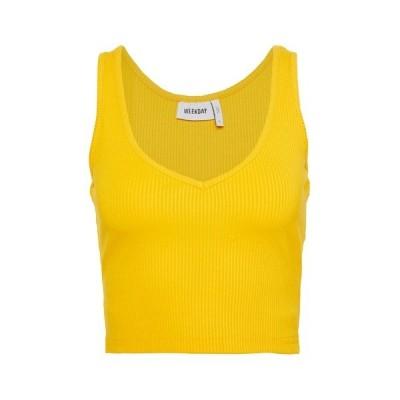 ウィークデイ カットソー レディース トップス NOVELLA SINGLET - Top - warn yellow