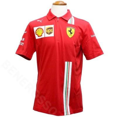 PUMA スクーデリア フェラーリ チーム ポロシャツ 2021 レッド 763032-02