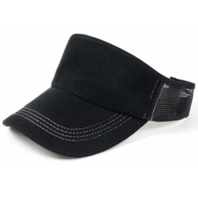 BIGWATCH正規品 大きいサイズ 帽子 メンズ 無地 ヘンプMIX サンバイザー ビッグワッチ  ブラック  ゴルフ テニス スポーツ L XL 春夏秋冬