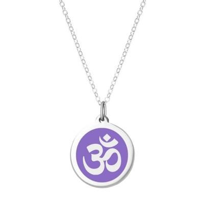 """オーバーンジュエリー Auburn Jewelry レディース ネックレス Om Pendant Necklace in Sterling Silver and Enamel, 16"""" + 2"""" Extender Radiant Or"""