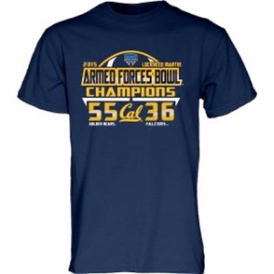 Blue 84 ブルー エイティーフォー スポーツ用品  Blue 84 Cal Bears Navy 2015 Armed Forces Bowl Champions T-Shirt