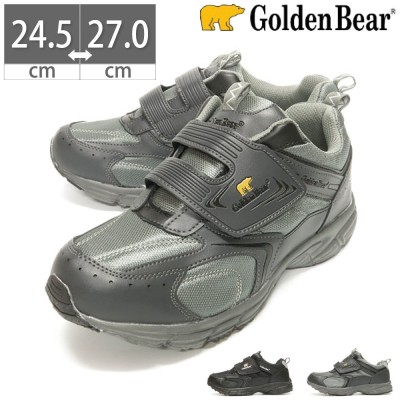 【10%OFF】 メンズ スニーカー 黒 ブラック グレー ゴールデンベア Golden Bear GB 109 24.5 25 25.5 26 26.5 27