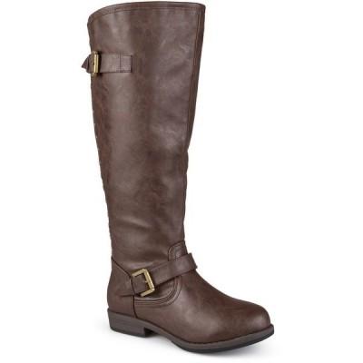 ジャーニーコレクション ブーツ&レインブーツ シューズ レディース Women's Wide Calf Spokane Boot Brown