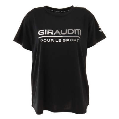 GIRAUDMアウトドアTシャツ 半袖 ドライ 吸汗速乾 UVカット メッシュシャツ 864GM1CD6678 BLKブラック