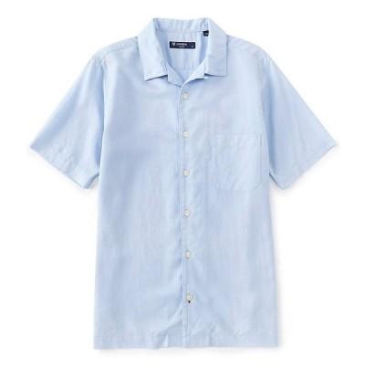 ダニエル クレミュ メンズ シャツ トップス Solid Short-Sleeve Woven Camp Shirt