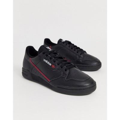 アディダス adidas Originals メンズ スニーカー シューズ・靴 Continental 80's Trainers In Black ブラック
