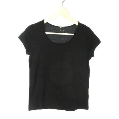【中古】ケイビーエフ KBF アーバンリサーチ ONE'S OWN フレンチスリーブ Tシャツ カットソー ブラック 黒 トップス レディース 【ベクトル 古着】