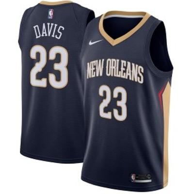 ナイキ メンズ Tシャツ トップス Anthony Davis New Orleans Pelicans Nike Swingman Jersey Navy Icon Edition