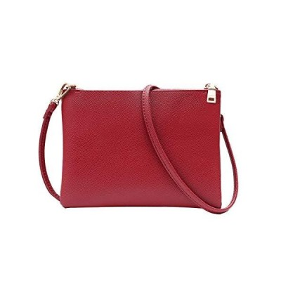 Crossbody Bag for Women, Small Shoulder Purses and Handbags Lightweight?PU Leather Wallet with Detachable Straps (Red)【並行輸入品】