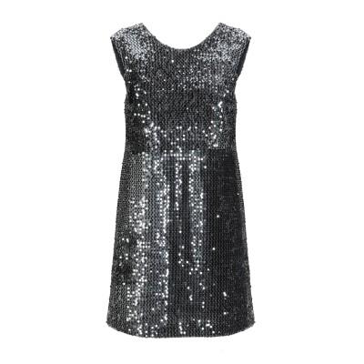 アンナリータ エンネ ANNARITA N ミニワンピース&ドレス 鉛色 44 ポリエステル 100% ミニワンピース&ドレス