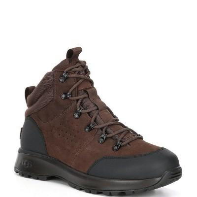 アグ メンズ ブーツ&レインブーツ シューズ UGG Men's Emmett Waterproof Leather Boots Chestnut