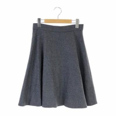 【中古】エムズセレクト m's select フレアスカート ひざ丈 38 グレー /KN レディース