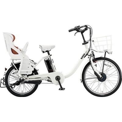 【防犯登録サービス中】ブリヂストン 電動アシスト自転車 bikke MOB DD BM0B40 E.XBKホワイト