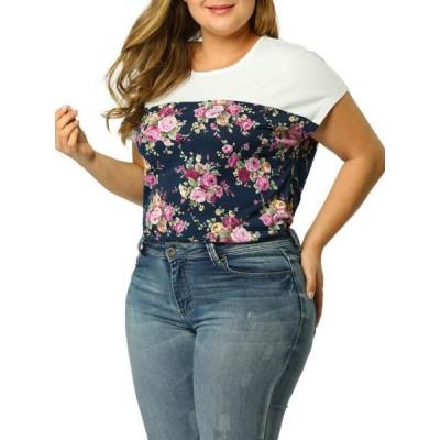 レディース 衣類 トップス Agnes Orinda Women Plus Size Sheer Floral Top ブラウス&シャツ