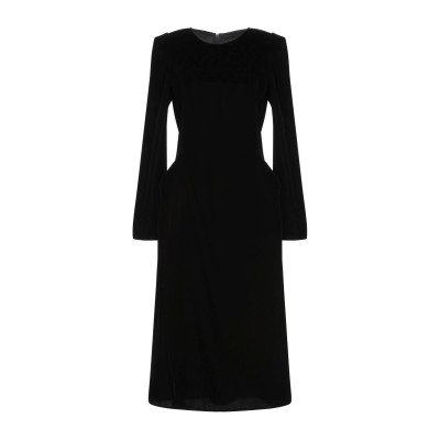 エルマノ シェルヴィーノ ERMANNO SCERVINO 7分丈ワンピース・ドレス ブラック 40 キュプラ 50% / レーヨン 50% 7分丈