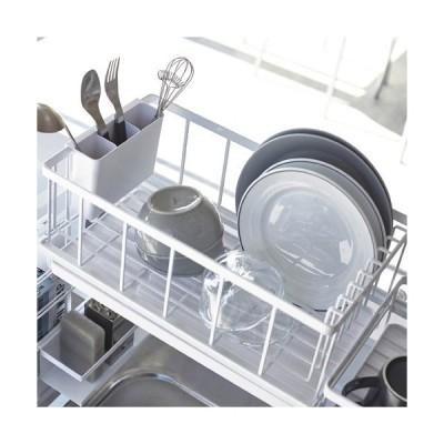 山崎実業 シンク上伸縮システムラック用 水切りバスケットタワー L ホワイト 4362