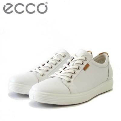 エコー ECCO SOFT7 Womens Sneaker ホワイト 430003 (レディース) 快適な履き心地のレザースニーカー  レースアップシューズ