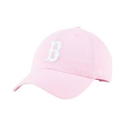 47ブランド レディース 帽子 アクセサリー Boston Red Sox Pink CLEAN UP Cap Pink