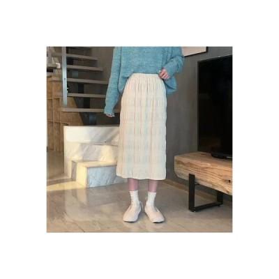 【送料無料】~ 韓国風 秋冬バージョン 新品 ベルベットスカート ハイウエスト 着やせ ミディ丈 | 346770_A64275-8409974