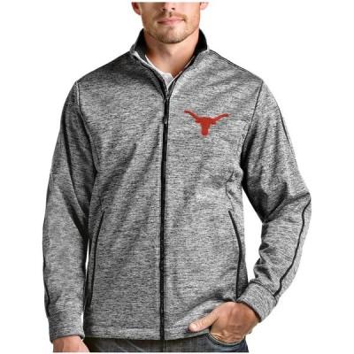 """メンズ ジャケット """"Texas Longhorns"""" Antigua Golf Full Zip Jacket - Heather Black"""