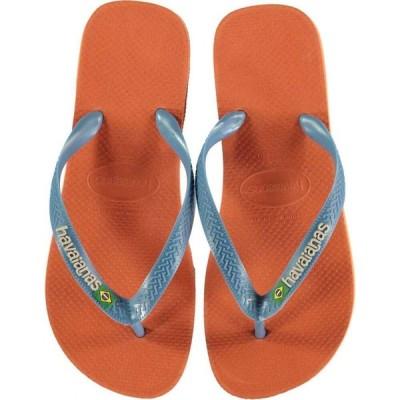ハワイアナス Havaianas メンズ ビーチサンダル シューズ・靴 Brazil Logo Flip Flops Orange B