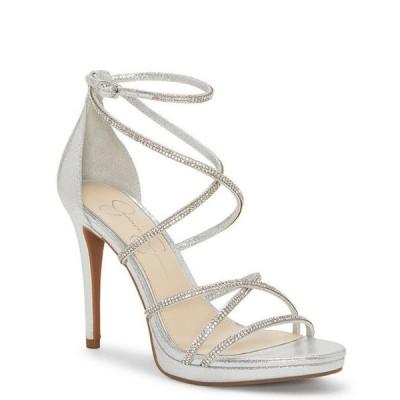 ジェシカシンプソン レディース サンダル シューズ Jaeya Rhinestone Strappy Dress Sandals