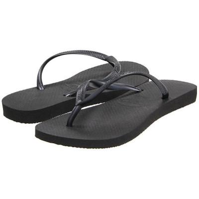 ハワイアナス サンダル レディース Slim Flip Flops Black