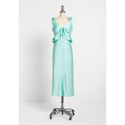 ハッチ Hutch レディース パーティードレス ワンピース・ドレス satin attraction tie-shoulder dress mint