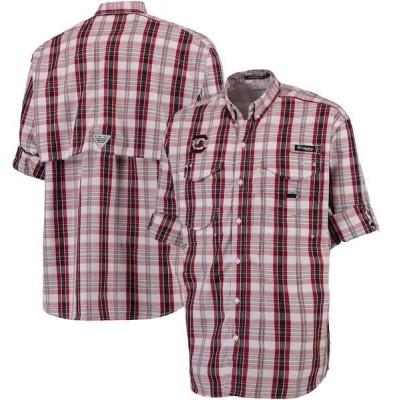 コロンビア シャツ トップス メンズ South Carolina Gamecocks Columbia Super Bonehead Long Sleeve Button-Down Performance Shirt Garnet