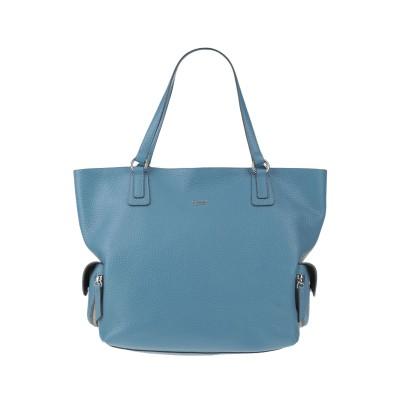 トスカブルー TOSCA BLU ハンドバッグ ブルーグレー 革 ハンドバッグ
