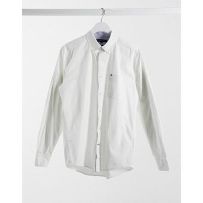 トミー ヒルフィガー メンズ シャツ トップス Tommy Hilfiger stretch long sleeve shirt White