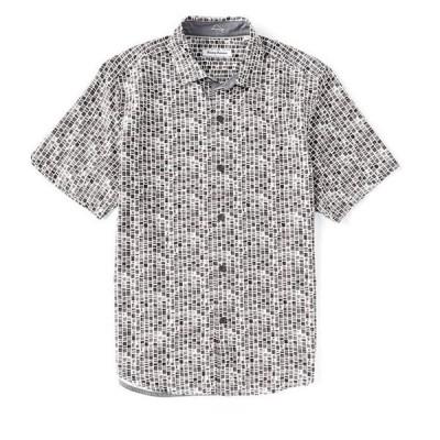 トッミーバハマ メンズ シャツ トップス Bamboo Tiles Short-Sleeve Woven Shirt