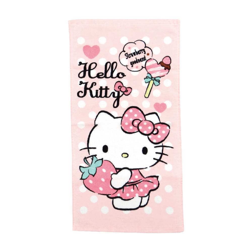 凱蒂貓最愛草莓童巾