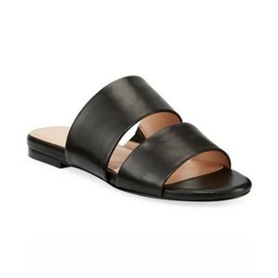 チャールズ・デイビッド レディース サンダル シューズ Siamese Banded Slide Sandals Black Leather
