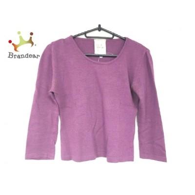 シビラ Sybilla 長袖セーター サイズ40 XL レディース 美品 パープル 新着 20201112