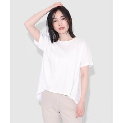 【LASUD】 [Aga×NORITAKE] バックタックTシャツ レディース ホワイト M LASUD