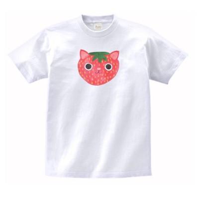 ストロベリーキャット 動物・生き物 Tシャツ