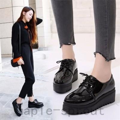 レディースローファー革靴オックスフォード厚底シューズOLオシャレ女子靴