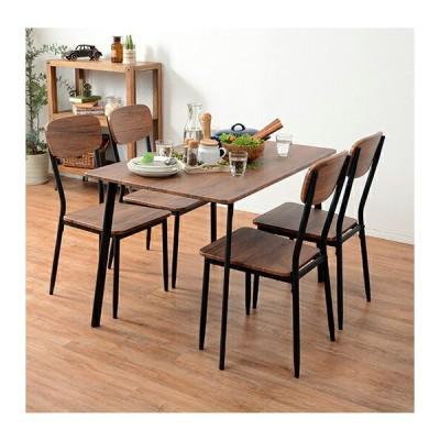 ダイニングセット ダイニングテーブルセット おしゃれ カフェ モダン 安い 北欧 ダイニングチェア 椅子 アンティーク 木製 シンプル 4脚セット 板座 4人 インダ