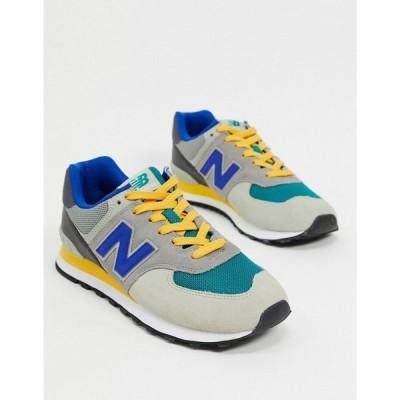 ニューバランス New Balance メンズ スニーカー シューズ・靴 574 Trainers In Multi Grey ネイビー