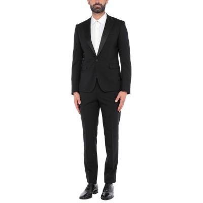 TOMBOLINI スーツ ブラック 50 バージンウール 99% / ポリウレタン® 1% スーツ