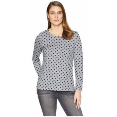 トリバル Tribal レディース 長袖Tシャツ ポケット トップス Long Sleeve T-Shirt with Pocket Grey Mix