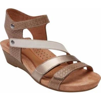 ロックポート レディース サンダル シューズ Women's Rockport Cobb Hill Hollywood 4 Strap Sandal Dove Multi Leather