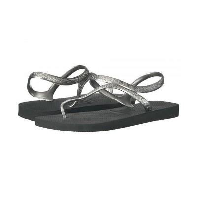 Havaianas ハワイアナス レディース 女性用 シューズ 靴 サンダル Flash Urban Flip Flops - Black/Silver