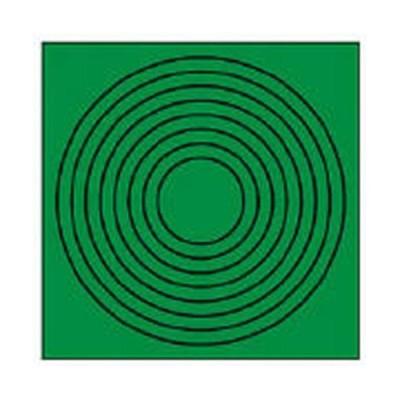 ユニット ゲージマーカー円形・PPステッカー・10枚組/44686_8156 緑/縦:110×横:110mm