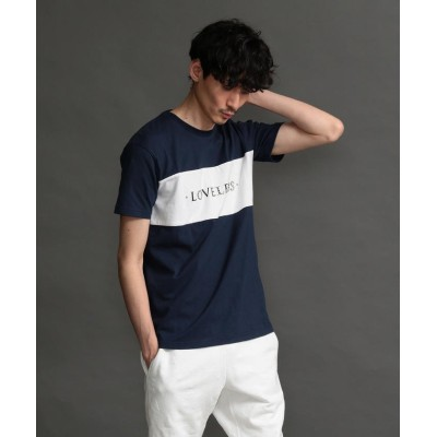 (LOVELESS MENS/ラブレス メンズ)【LOVELESS】MEN スタッズロゴTシャツ/メンズ ネイビー