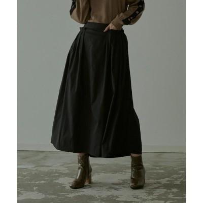 titivate タックポケットロングスカート【miette ミエット】 ブラック フリー レディース