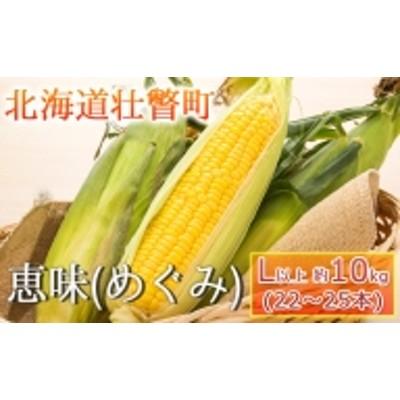 <2022年8月下旬よりお届け>【朝採り】北海道壮瞥町産 とうもろこし恵味(めぐみ)Lサイズ以上約10kg(22~25本)