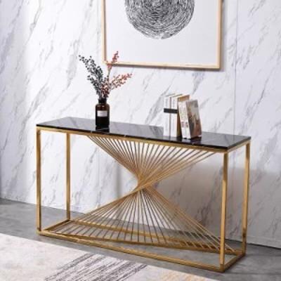 高級サイドテーブル コンソールテーブル 玄関テーブル 花台 電話台 アンティーク調デザイン 幅度100cm 大理石