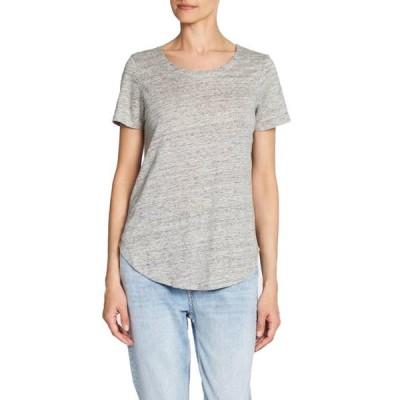 レディース 衣類 トップス Chaser Womens Linen Jersey Cross Back Tee Tシャツ
